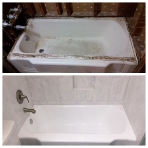 it's trick to tame a tub_before and after