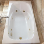 stunning soaker tub _ before
