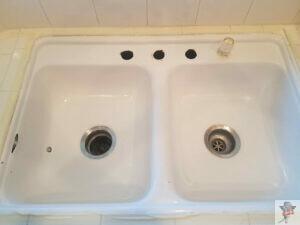 porcelain sink refinishing _ before