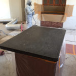 granite counter top reglazing _ taping