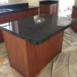 sprayed faux granite _ counter _ after